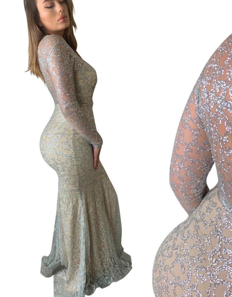 Unique Dresses Dilara Silver Dress