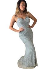 Unique Dresses Adriana Silver Dress