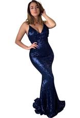 Unique Dresses Leilani Navy Glitter Dress