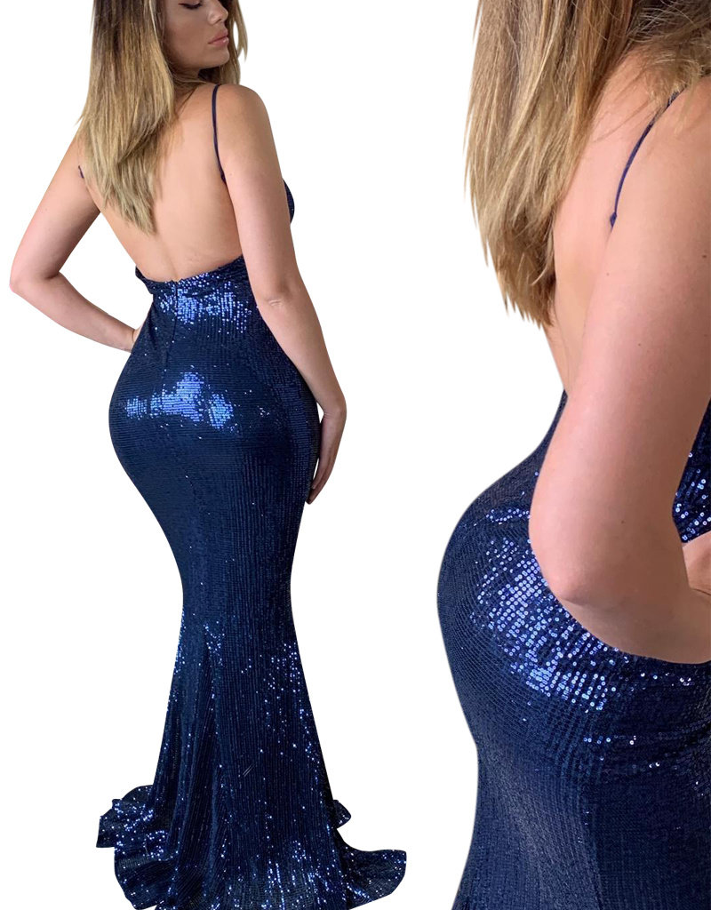 Unique Dresses Leilani Navy Glitter Dress