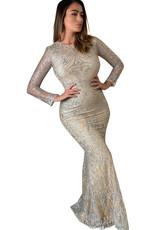 Unique Dresses Mathilde Glitter Long Sleeve Dress