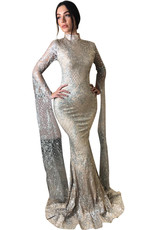 Unique Dresses Zohra Silver Dress