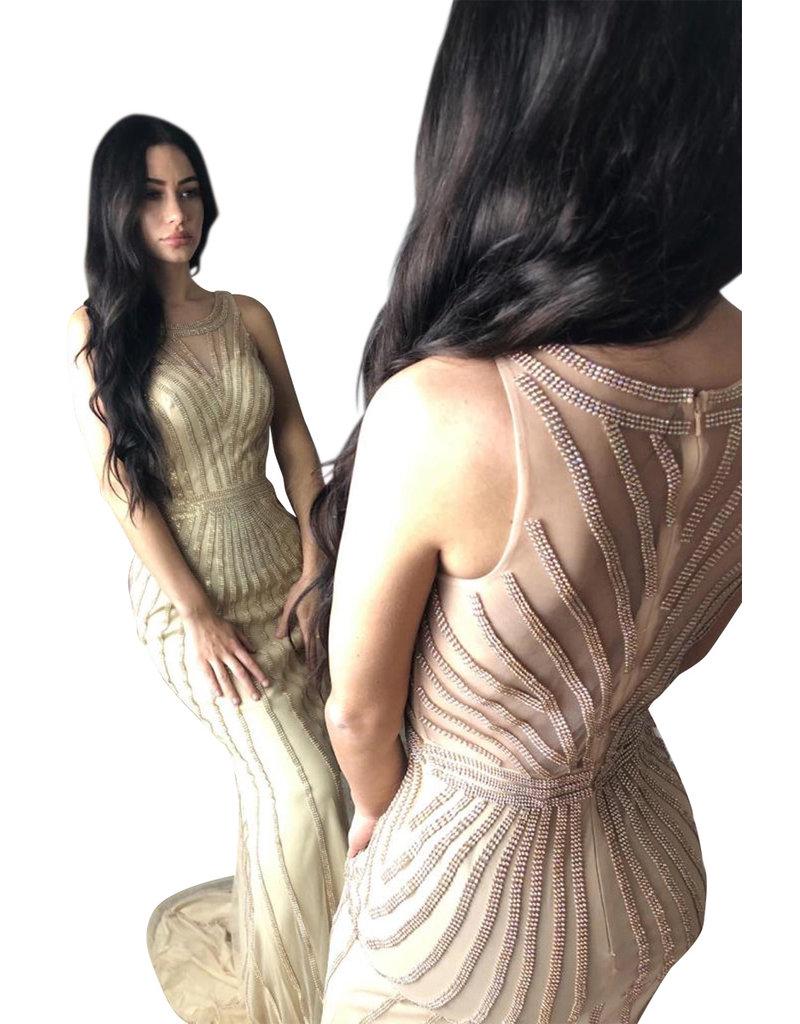 Unique Dresses Luriana Black Beaded Dress