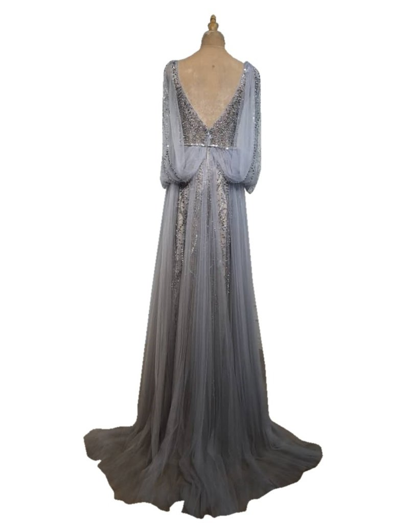 Unique Dresses Andrey Silver Grey Dress