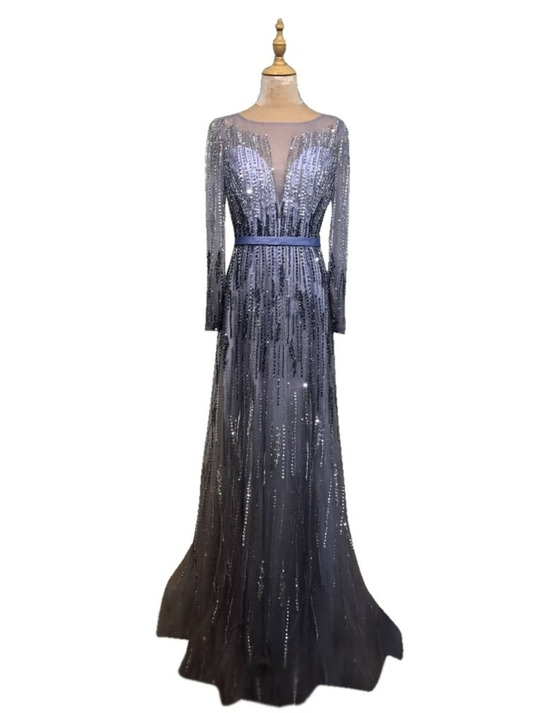 Unique Dresses Diamanda Purple Silver Dress