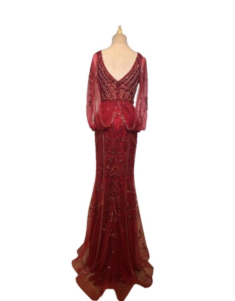 Unique Dresses Lizabeta Red Wine Dress