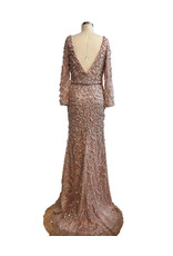 Unique Dresses Tereza Dusty Pink Beaded Dress