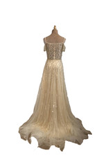 Unique Dresses Manya Nude Beaded Dress