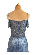 Unique Dresses Manya Blue Beaded Dress