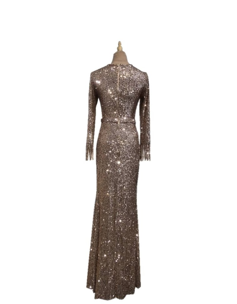 Unique Dresses Halina Rose Long Sleeve Dress