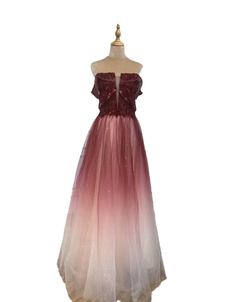Unique Dresses Giullia Wine Red Dress