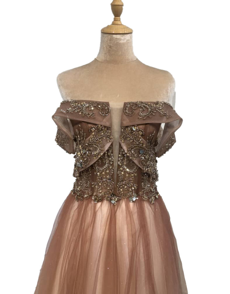 Unique Dresses Giullia Champagne Dress