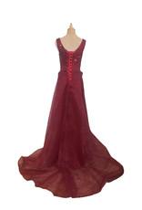Unique Dresses Viola Wine Red Beaded Dress