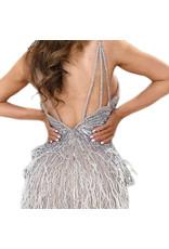 Unique Dresses Shailee Silver Beaded Dress
