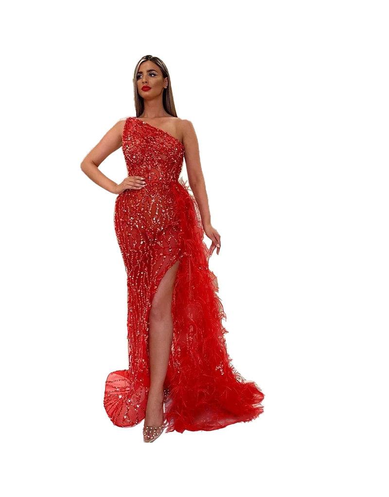 Unique Dresses Sevilla Red Beaded Dress