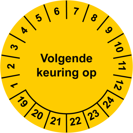 Keuringsstickers