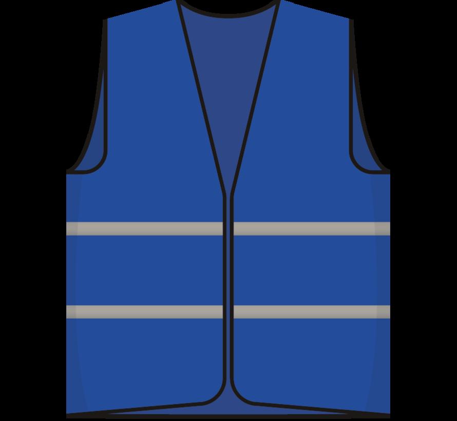 Bezoeker hesje blauw
