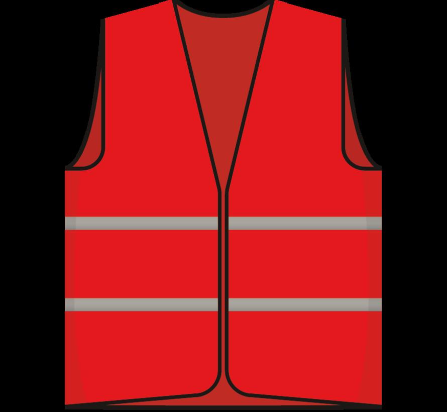 Beveiliger hesje rood