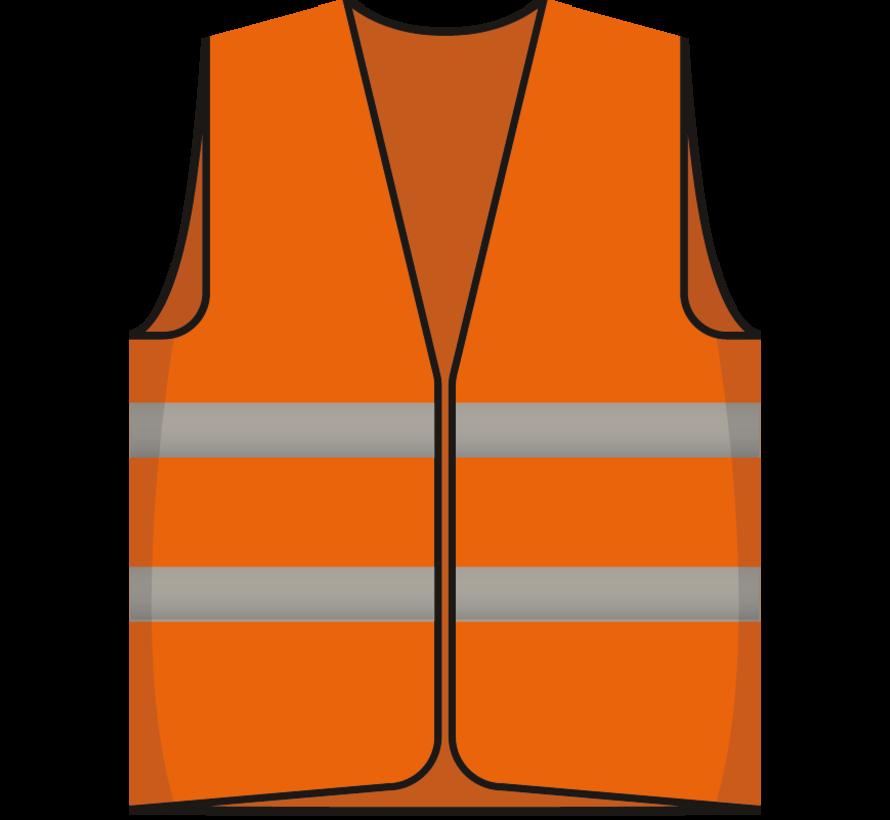 Beveiliger hesje oranje