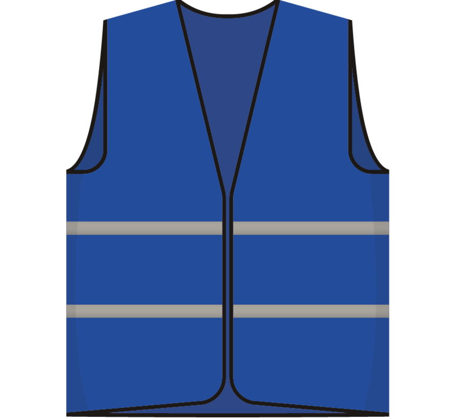 Ploegleider hesje blauw