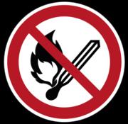 ARBO centrum Vuur, open vlam en roken verboden