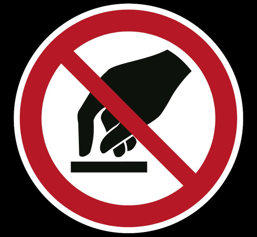 Aanraken verboden verbodspictogram