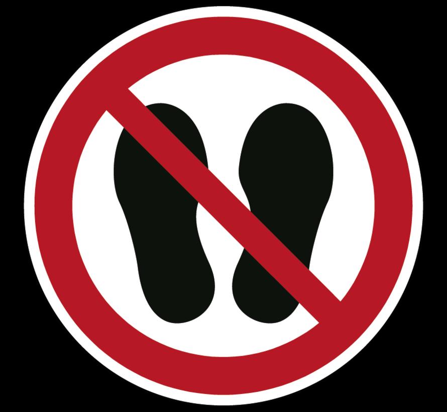 Betreden van ruimte verboden verbodspictogram