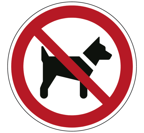 ARBO centrum Dieren verboden pictogram