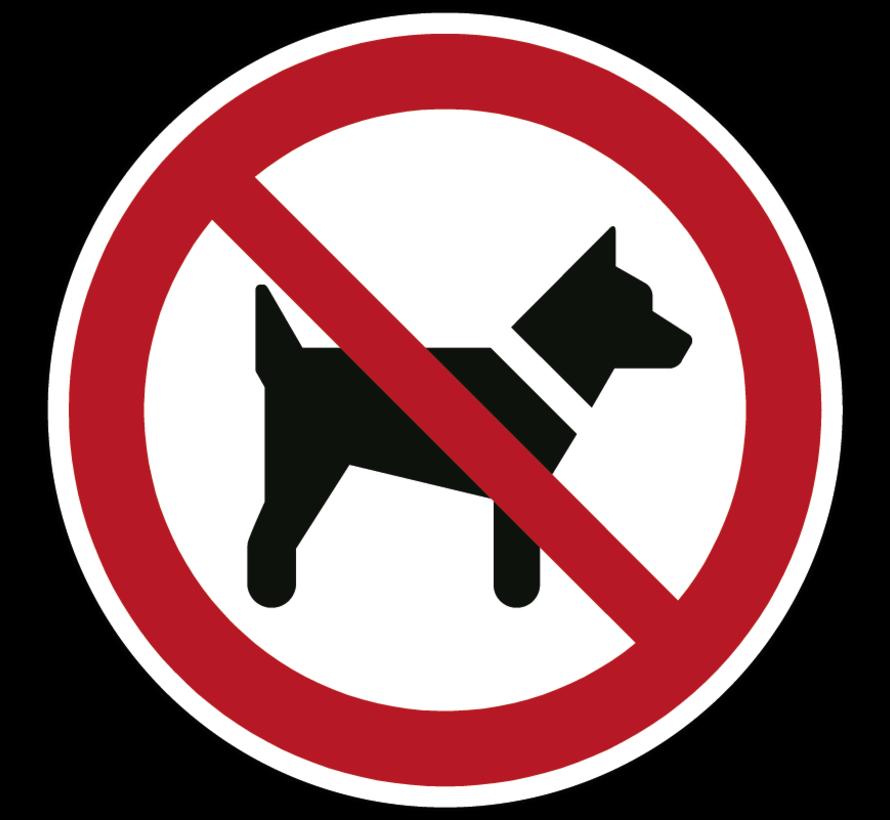 Dieren verboden pictogram