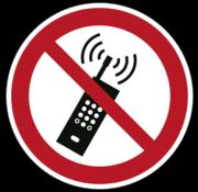 Draagbare telefoon verboden