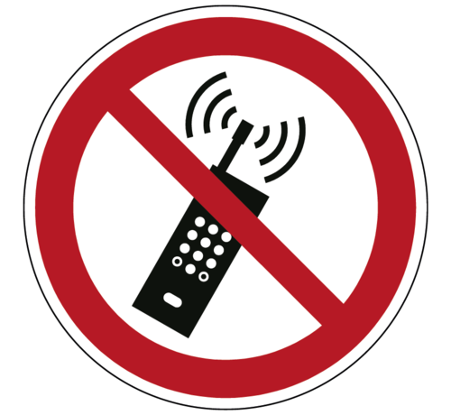 ARBO centrum Draagbare telefoon verboden pictogram