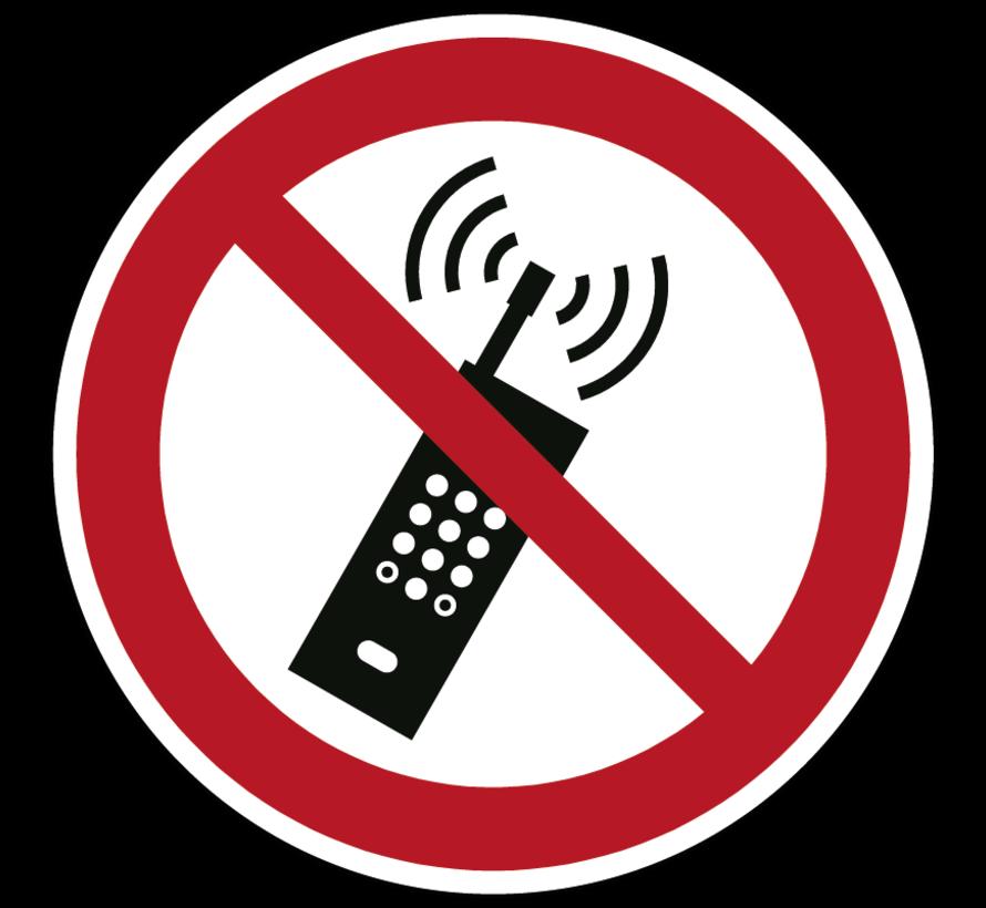 Draagbare telefoon verboden pictogram