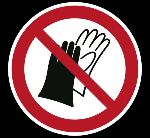 ARBO centrum Dragen van handschoenen verboden pictogram