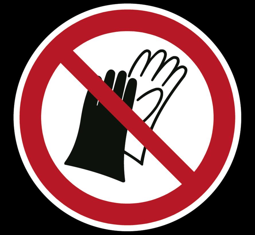 Dragen van handschoenen verboden pictogram