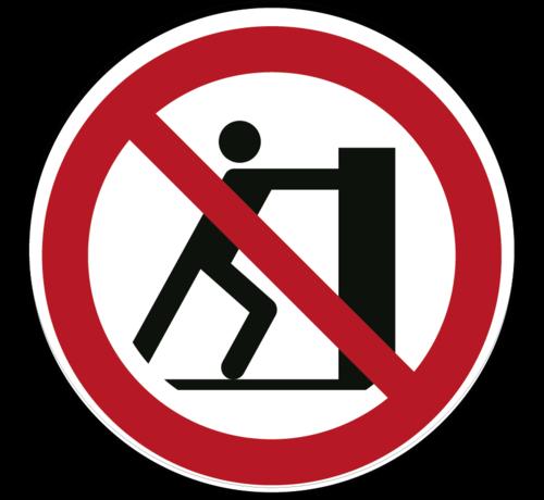 ARBO centrum Duwen verboden pictogram