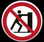Duwen verboden pictogram
