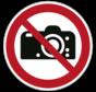 Fotograferen verboden pictogram