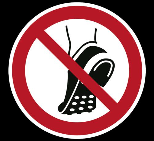 ARBO centrum Geen schoenen met metalen noppen dragen pictogram