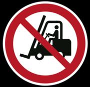 Heftruck verboden