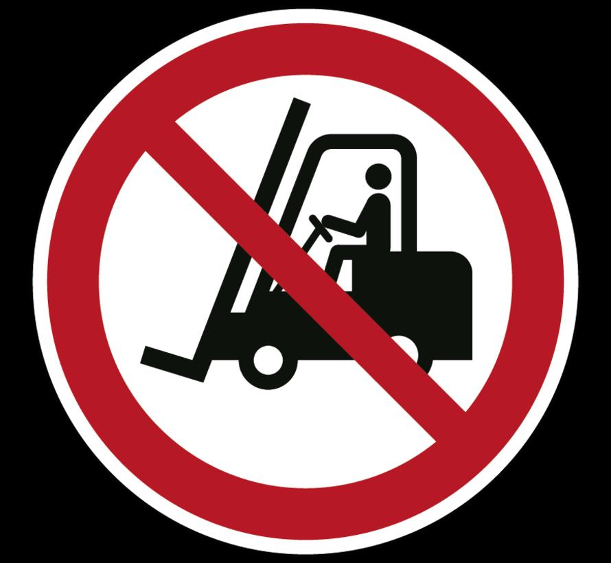Heftruck verboden pictogram