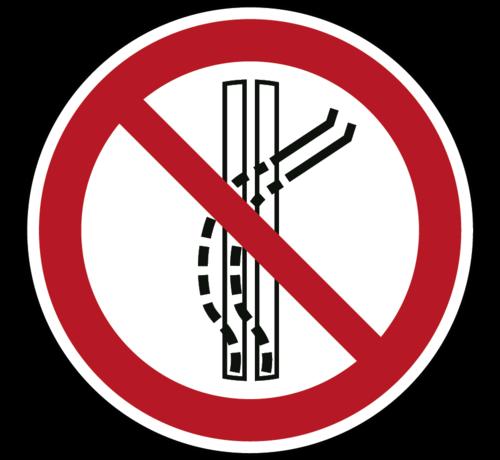 ARBO centrum Het sleepspoor niet verlaten pictogram