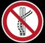 Het sleepspoor niet verlaten pictogram