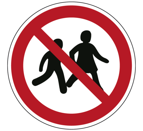 ARBO centrum Kinderen niet toegestaan pictogram