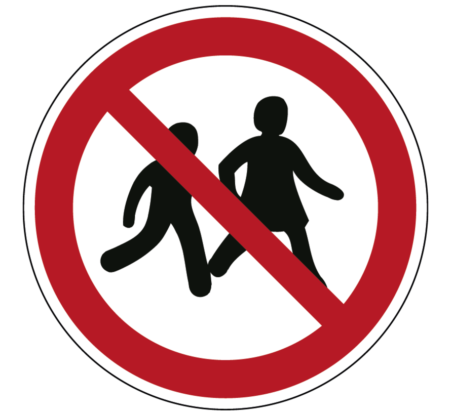 Kinderen niet toegestaan pictogram