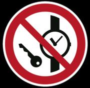 ARBO centrum Kleine metalen voorwerpen verboden