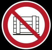 Neerzetten of opslaan verboden