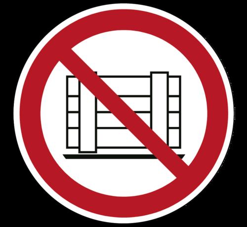 ARBO centrum Neerzetten of opslaan verboden pictogram