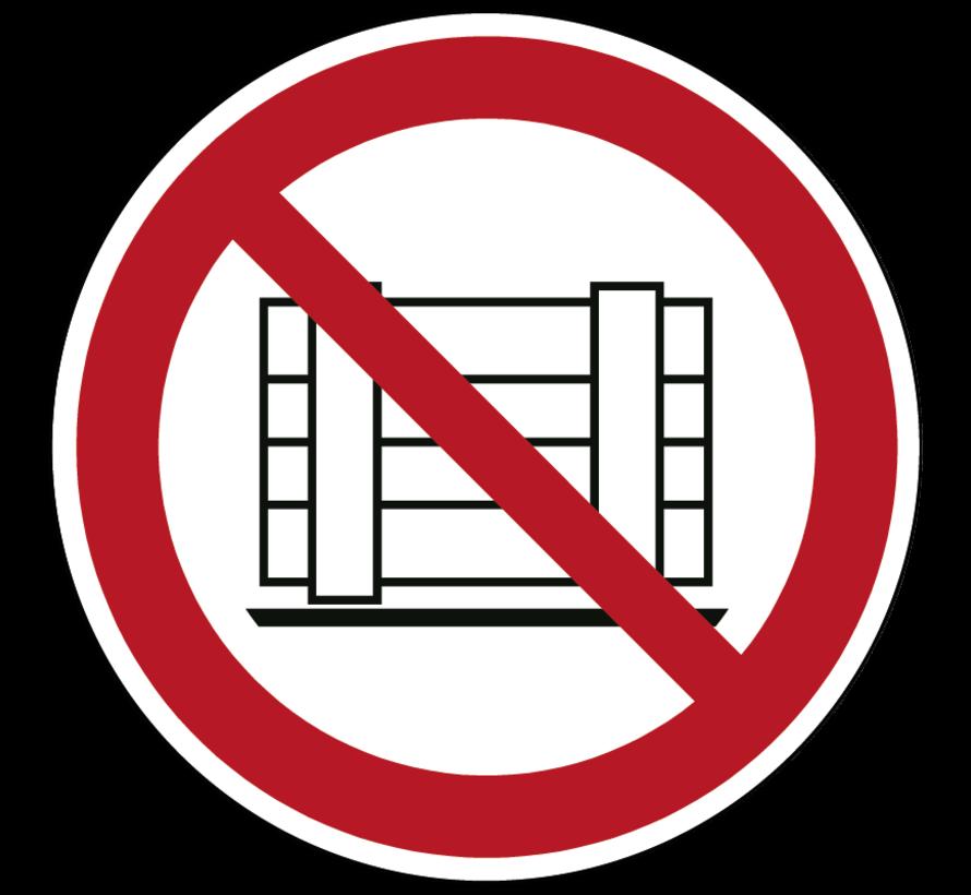 Neerzetten of opslaan verboden pictogram
