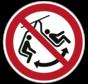 Niet schommelen met het stoeltje pictogram