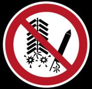 Ontsteken van vuurwerk verboden